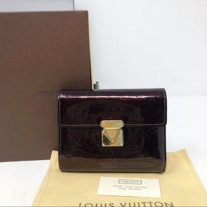 Louis Vuitton Vernis Monogram koala red wallet